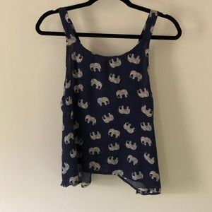 Tank top with open back
